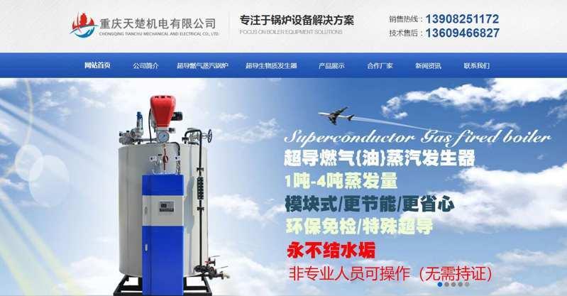 重庆天楚机电有限公司【网站推广案例】